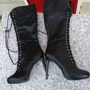 JustFab Shoes - Sexy Black Boots Daley Black Boots Size 9